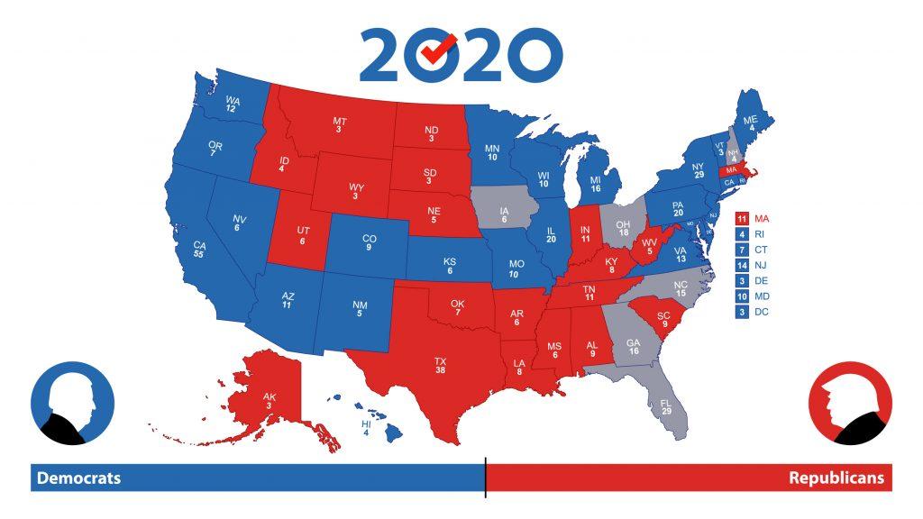 2020美國總統大選分布