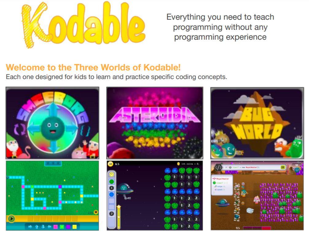 Kodable程式遊戲介面